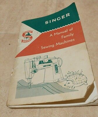 singer sewing machines instruction book can use with most of the vintage singer.
