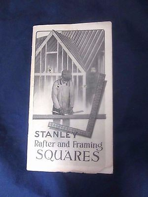 Stanley Rule & Level Co Rafter & Framing Squares Antique Tool Book By L Perth
