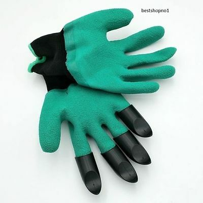 1 pair Gardening Gloves with claws Genie for raking, digging, planting Washable