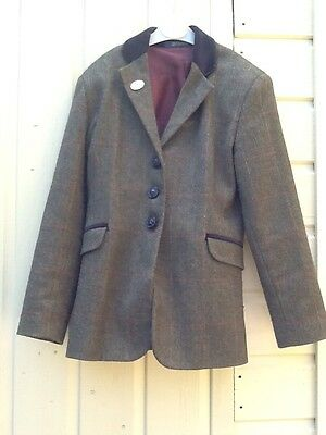 Childs Tagg Tweed Hacking Jacket Size 26