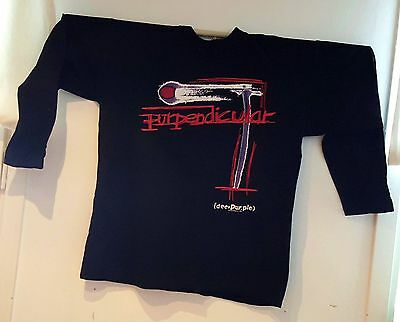 Unused rare vintage Deep Purple Purpendicular tour 1996 T-shirt long sleeve