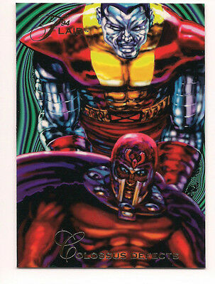 1994 Flair Marvel # 122 Magneto Colossus base Trading Card