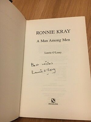 Ronnie Kray Laurie OLeary Hardback Signed