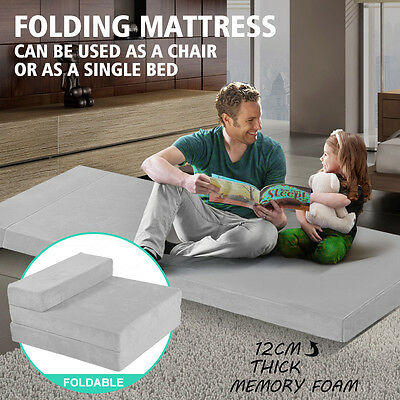 Portable Sofa Bed Folding Mattress Foldable Cushion Lounge Chair Guest Bedding