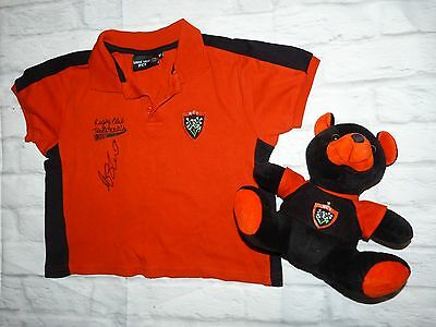 Polo + Peluche RCT Racing Club de Toulon RC signed signé  MA'A NONU ultras rugby