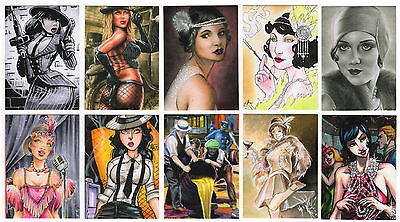 2015 Prohibition Pretties 10 Card Base Set  ID Artcards