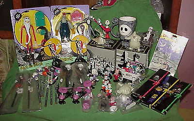big lot vintage MOSTLY NIB Nightmare Before Christmas Toys Figures Watches