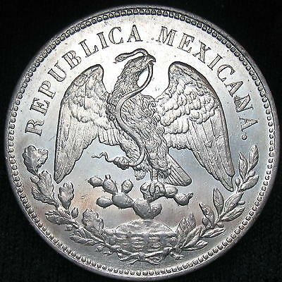 Mexico Cap and Rays 1 Peso 1900 Cn JQ silver