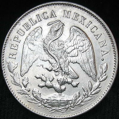 Mexico Cap and Rays 1 Peso 1898 Zs FZ silver