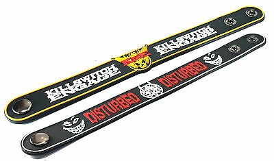 2X KILLSWITCH ENGAGE & Disturbed Rubber Wristband Bracelet Free Shipping