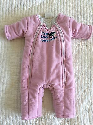 Baby Merlin's Magic Sleepsuit Pink Small 3-6 Months 12-18 Lbs