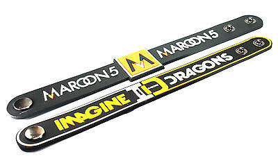 2X Maroon 5 & IMAGINE DRAGONS Rubber Wristband Bracelet Free Shipping