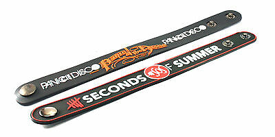 2X PANIC! AT THE DISCO & 5 Seconds of Summer Rubber Wristband Bracelet