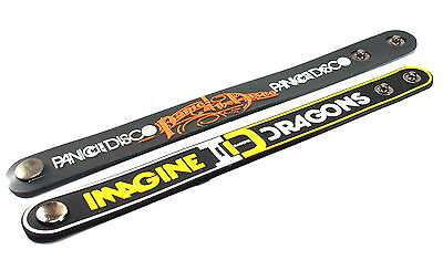 2X PANIC! AT THE DISCO & IMAGINE DRAGONS Rubber Wristband Bracelet Free Shipping