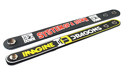 2X System of a Down & IMAGINE DRAGONS Rubber Wristband Bracelet Free Shipping