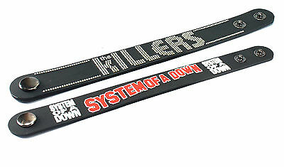 2X THE KILLERS & System of a Down Rubber Wristband Bracelet Free Shipping