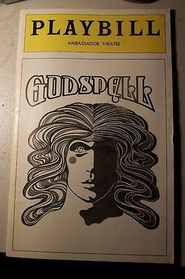 Vintage Playbill ,godspell,may 1977,ambassador Theatre,nyc