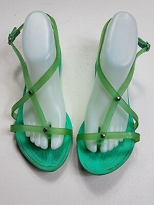 Crocs Women's Sandals Sz 9M Green Strappy