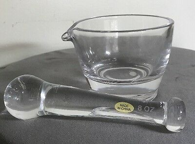 Capsuline 8oz Glass Mortar and Pestle Set