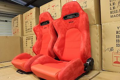 2 x Recaro SR5 in hard wearing RED suede, medium
