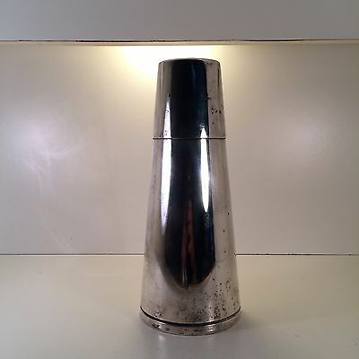 EMIL A. SCHUELKE FOR NAPIER SILVER-PLATED CONE COCKTAIL SHAKER Circa 1930's