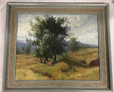 Original Oil Painting Australian School Unsigned & Untitled