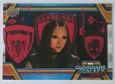 2017 UD Guardians Of The Galaxy Vol. 2 Mantis Pink Foil Parallel 5/10 SSP #23