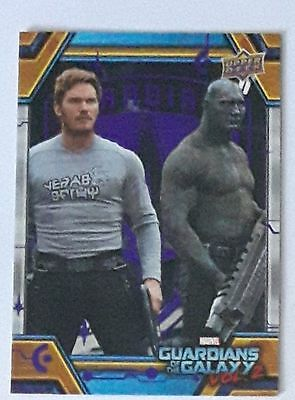 2017 UD Guardians Of The Galaxy Vol. 2 Star-Lord Drax Purple Parallel 19/99 #78