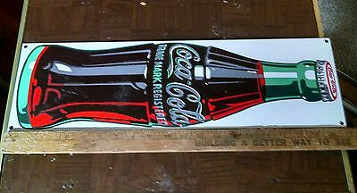 Vtg. Coca Cola porcelain sign