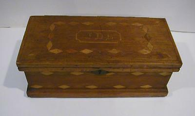 Antique Walnut with Satin Wood Inlay Document / Letter Box