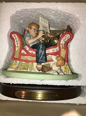 The Trumpeter by Norman Rockwell figurine The Pride of the Post 1986 With COA