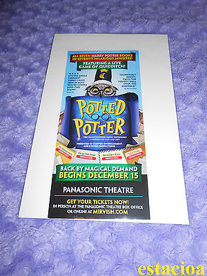 Potted Potter / Graeme of Thrones Original Broadway Flyer, NEW, Game Harry