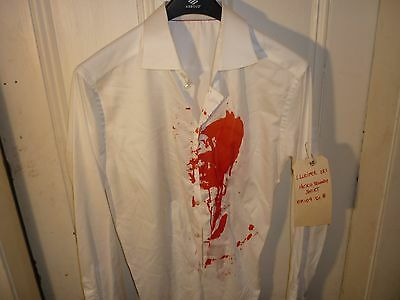 "LUCIFER-TV SERIES-BLOODY WHITE  SHIRT  worn by TOM ELLIS as :LUCIFER""-ep-""POPS"""