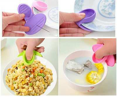 Non-slip Gripper Pot Holder Kitchen Dishes Silicone Oven Heat Insulated Tools