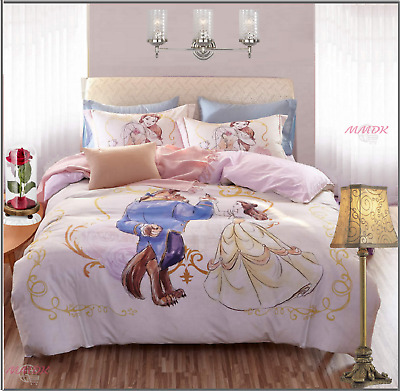 DISNEY Duvet Cover Bedding Set 100% Cotton Beauty and the Beast Best Quality NEW