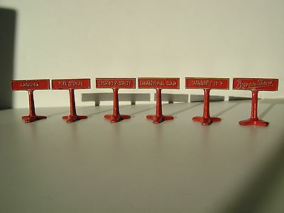 Rare Vintage Cast Iron BURMA SHAVE Roadside Sign Set (6 pieces) (SEE INFO BELOW)