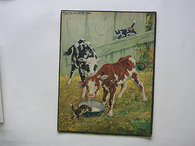 A Calves And Cats Frame Tray - Inlay Picture Puzzle