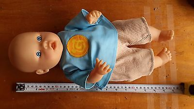 Peterkin Baby Doll Blue Eyes 40cm Tall Including Clothes