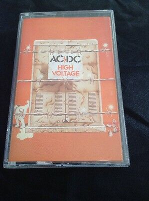 Ac/dc High Voltage Cassette Tape Full Artwork Rare Australia Albert Productions
