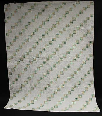 Early 20th Century Baby Crib Quilt, Hand and Machine Sewn