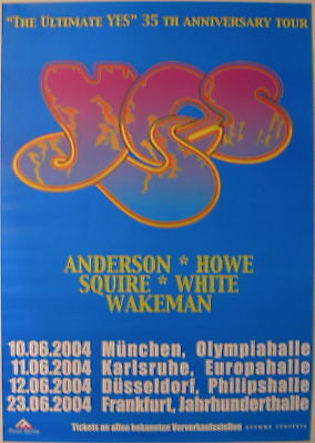 Yes Concert Tour Poster 2004 35Th Anniversary Tour