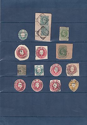 GB King Edward VII Prepaid postal stationary cut outs