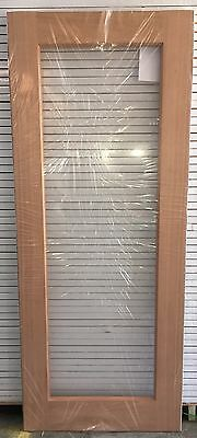 1 Lite Solid Meranti Timber Door with Clear Glass