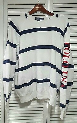 Vintage polo ralph lauren stadium indian p wing  1992 rare cookie sweater sz L