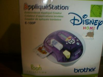 BROTHER  APPLIQUE STATION EMBROIDERY MACHINE E-100P Disney POOH Collection NEW