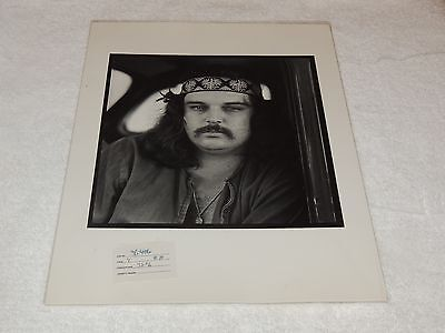 "Grateful Dead / Pigpen - Herb Greene 11"" x 14"" - Black & White Proof Print! WOW!"