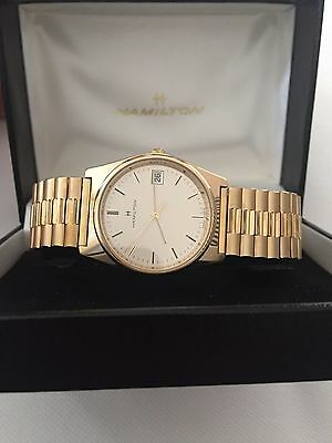 Hamilton Vintage Quartz Men's Gold Watch. Inscribed from Ford Motor Company
