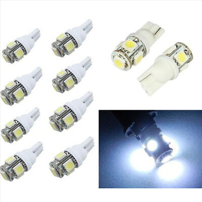5~100PCS T10 5050 5SMD White LED Car Light Wedge Lamp Bulbs Super Bright 12V