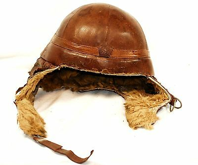 WW2 Japanese Army Winter Helmet for Tank Crew 1940 Super Rare!! from Japan 209