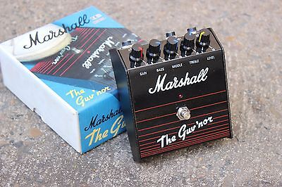 1990's Marshall Guv'nor Distortion Overdrive Vintage Effects Pedal w/Box